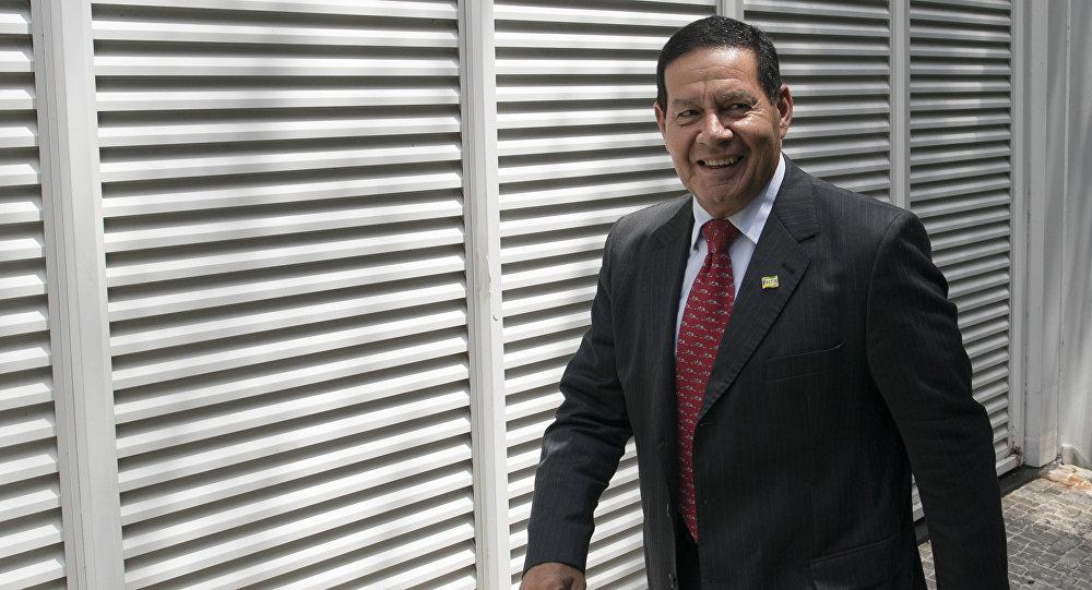 Antonio Hamilton Mourao, vicepresidente de Brasil (archivo)