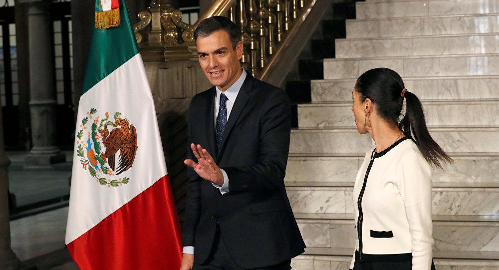 Pedro Sánchez, presidente del Gobierno de España, en México
