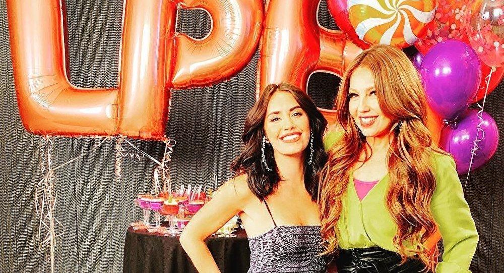 Thalía y Lali Espósito celebran el éxito de su tema musical