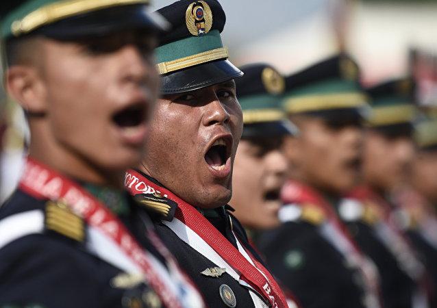 Militares venezolanos, foto de archivo