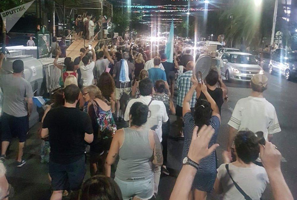 Manifestación de protesta en Buenos Aires