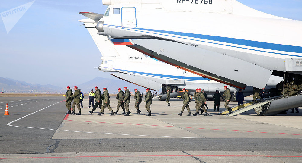 La policía militar rusa