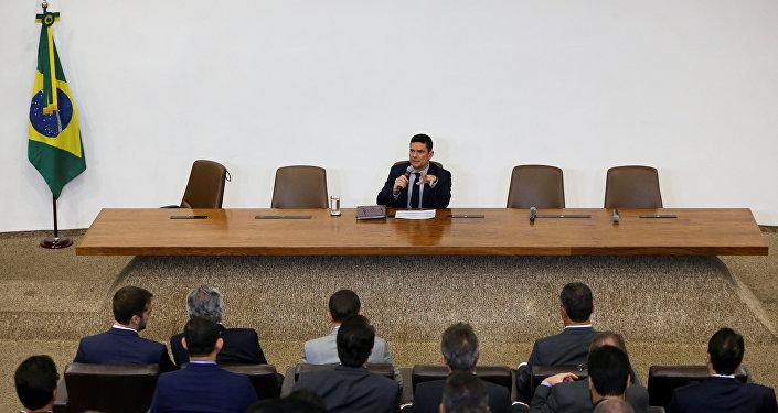 El juez Sérgio Moro, ministro de Justicia y Seguridad Pública de Brasil presentó su Proyecto de Ley Anticrimen