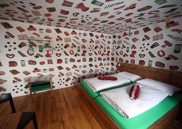 El hotel Bratwurst