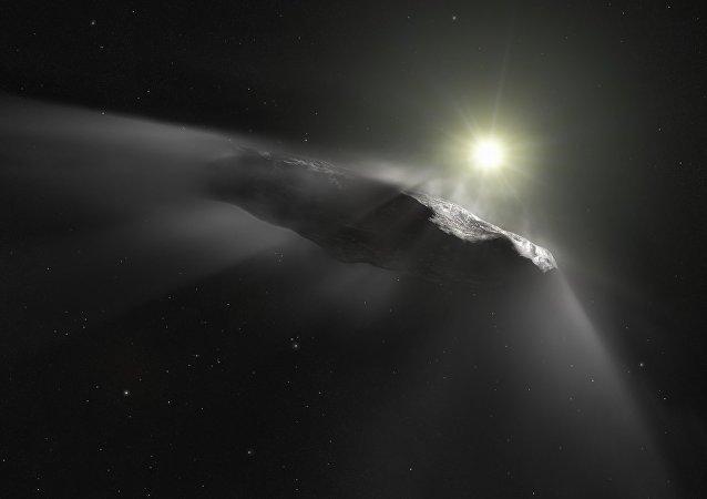 Oumuamua (ilustración artística)