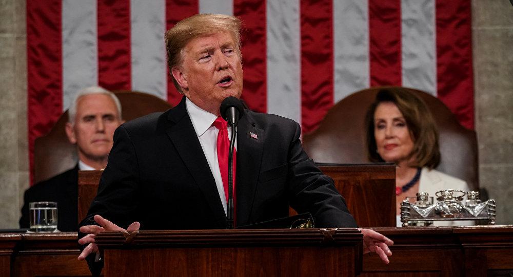 Trump brinda su Discurso del Estado de la Unión ante el Congreso