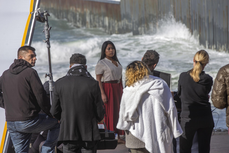 Yalitza Aparicio, durante el rodaje