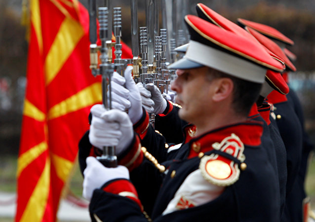 La guardia de honor de Macedonia