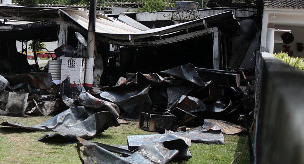 Incendio en el club de futbol Flamengo en Río de Janeiro, Brasil