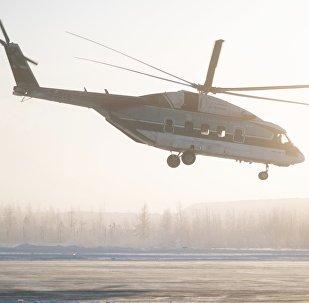 Pruebas de vuelo del helicóptero Mi-38 en el aeropuerto de Mirni, en Yakutia