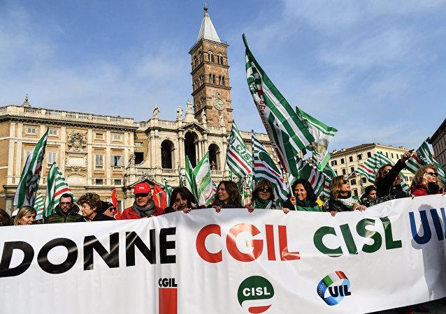 Las protestas en Italia