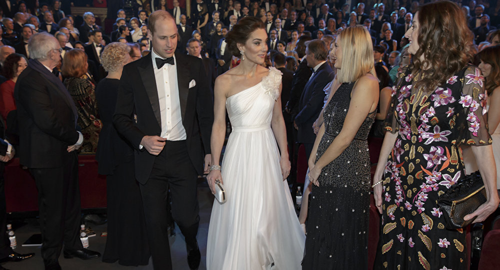 William y Kate en los premios BAFTA