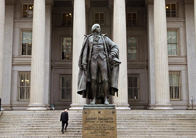 El edificio del Departamento de Tesoro de EEUU