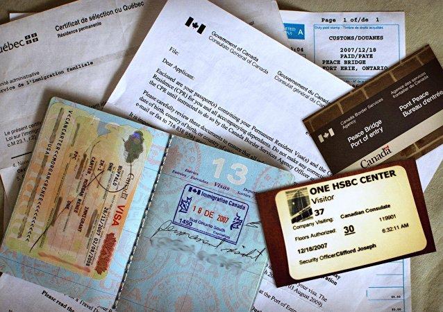 Los documentos y visa de Canadá