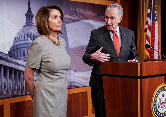 La presidenta de la Cámara de Representantes de EEUU, Nancy Pelosi, y el líder de la Minoría en el Senado, Chuck Schumer