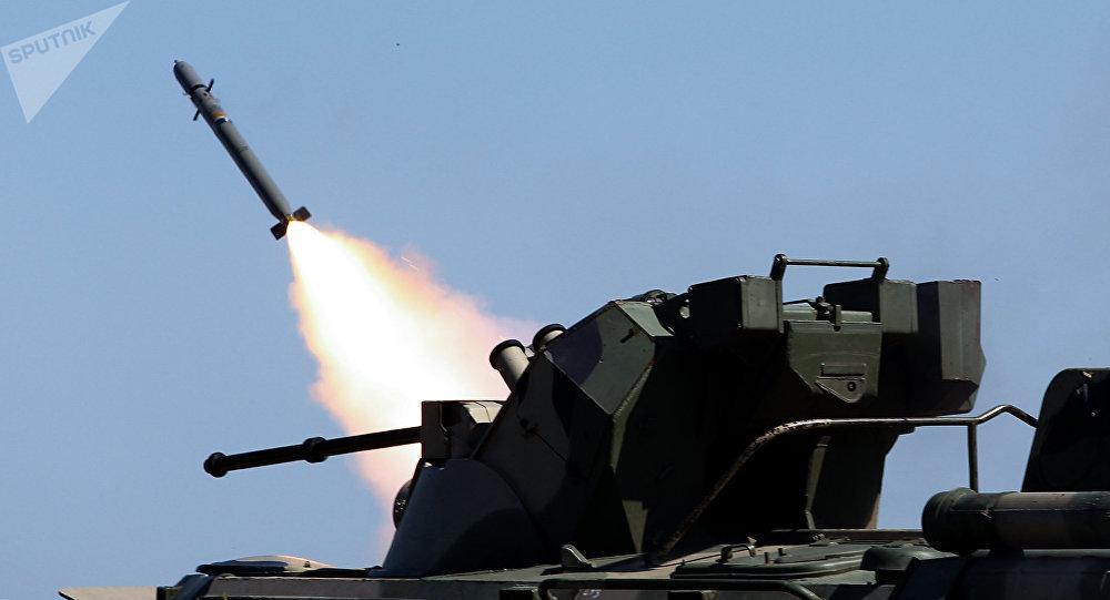 El uso del sistema de defensa antiárea Igla (archivo)