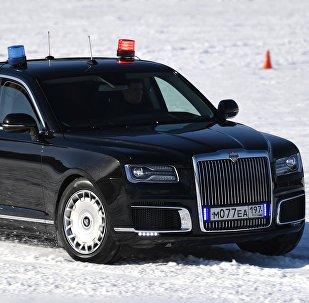 Aurus Senat en una competición del Servicio Federal de Protección de Rusia