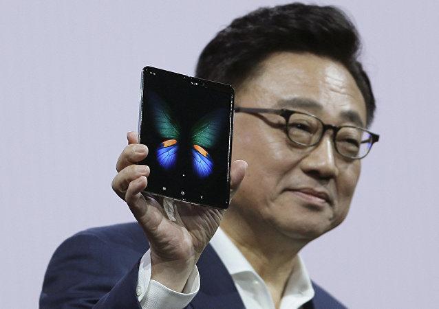 Presentación del Galaxy Fold, teléfono plegable de Samsung
