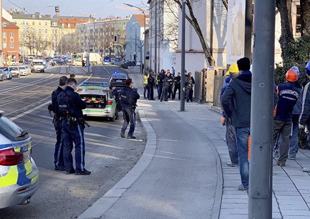 Policía tras el tiroteo en Munich, Alemania