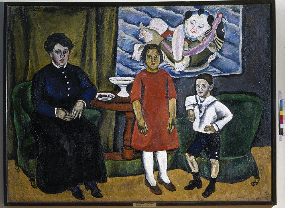 Piotr Konchalovski 'El retrato de familia' 1911