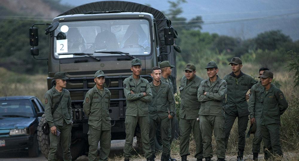 Militares venezolanos en la frontera con Colombia (archivo)