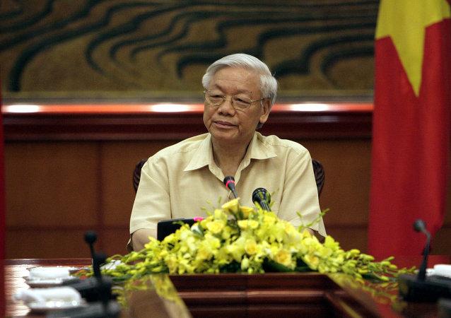 Presidente de Vietnam Nguyen Phu Trong