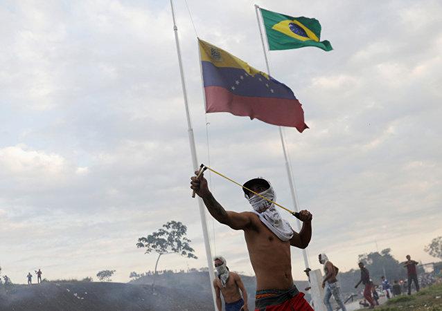 Situación en la frontera entre Venezuela y Brasil en Pacaraima