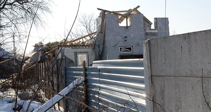 Edificios destruidos en Donbás (archivo)