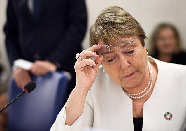 Michelle Bachelet, alta comisionada de DDHH de la ONU (archivo)