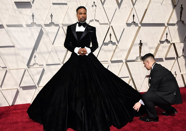 El actor Billy Porter, en la alfombra roja del evento