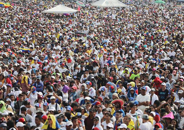 Asistentes al concierto Venezuela Live Aid en Cúcuta