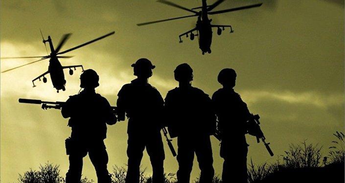 Efectivos de las Fuerzas de Operaciones Especiales de Rusia