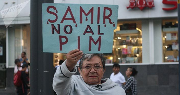 Marcha en Ciudad de México por Samir Flores, activista contra el Proyecto Integral Morelos asesinado a mediados de febrero.