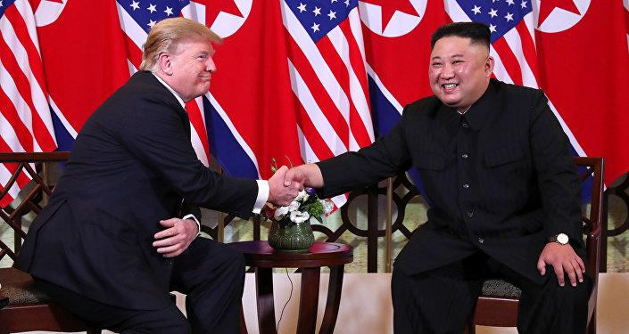 El presidente de EEUU, Donald Trump, y el líder norcoreano, Kim Jong-un