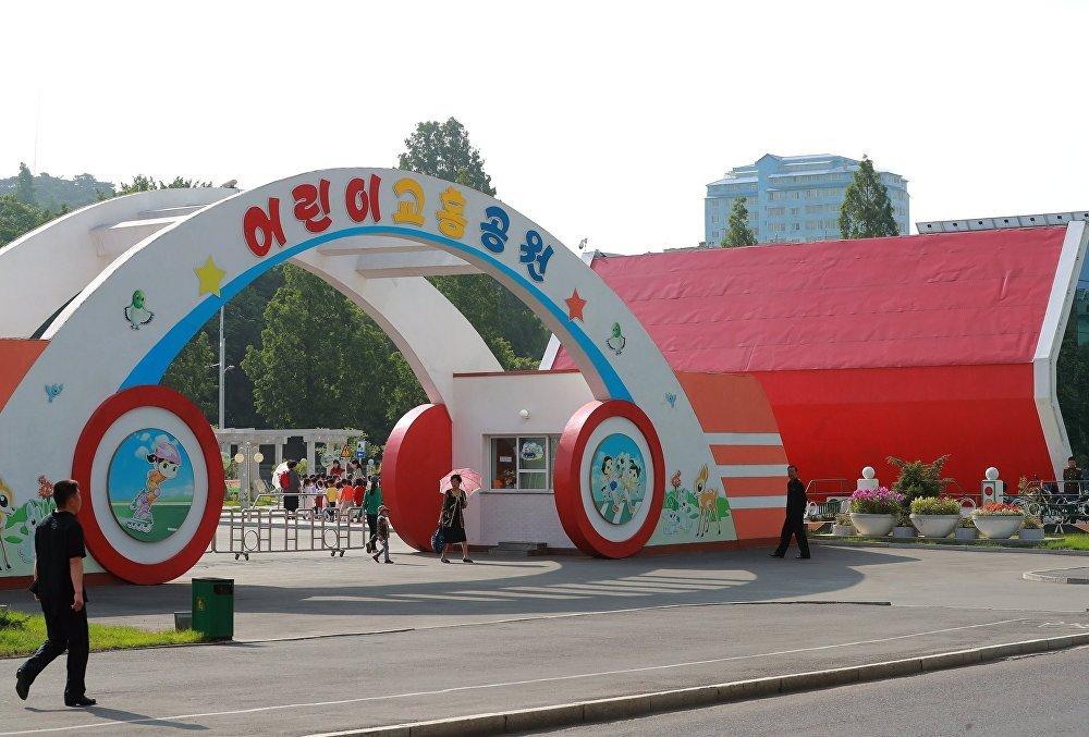 Un parque infantil en Pyongyang