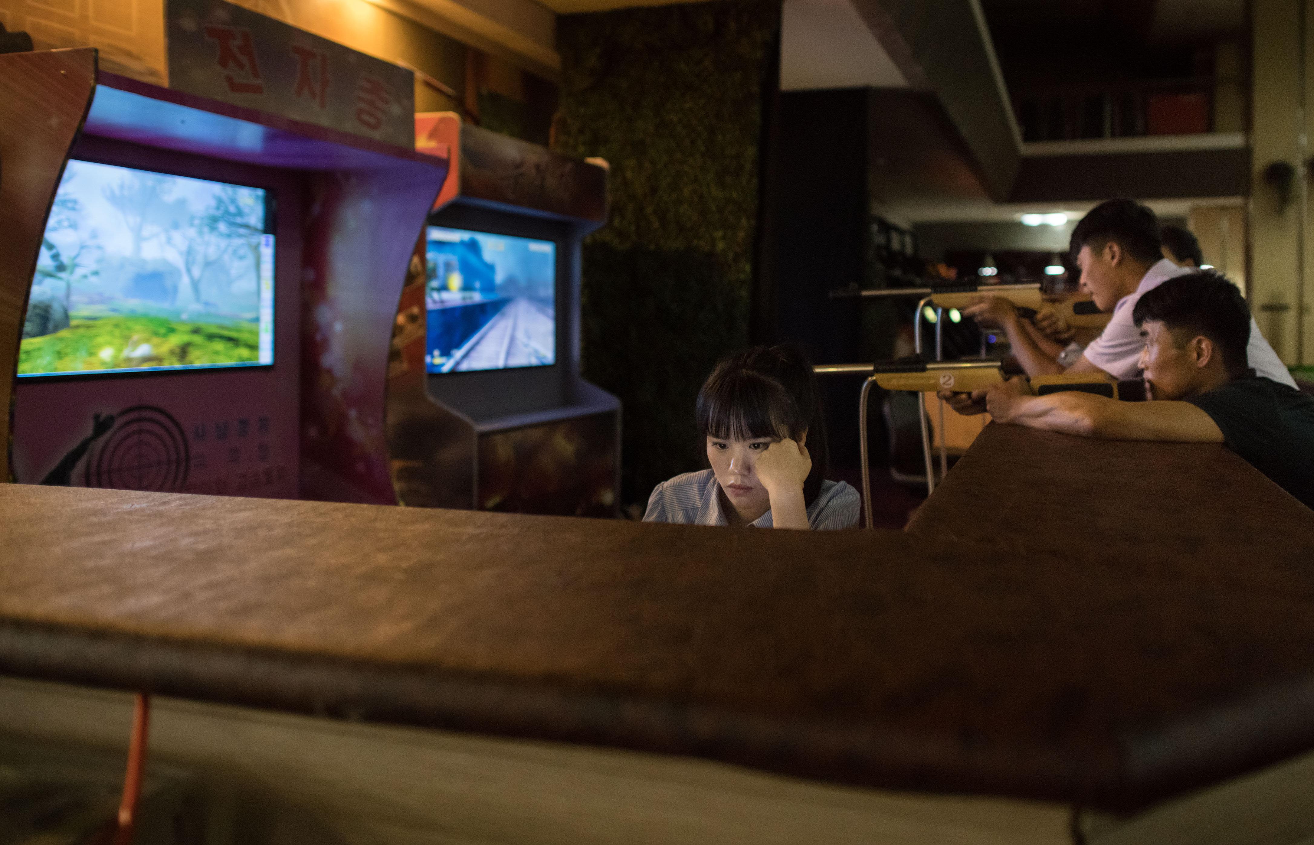 Un club de videojuegos en Pyongyang