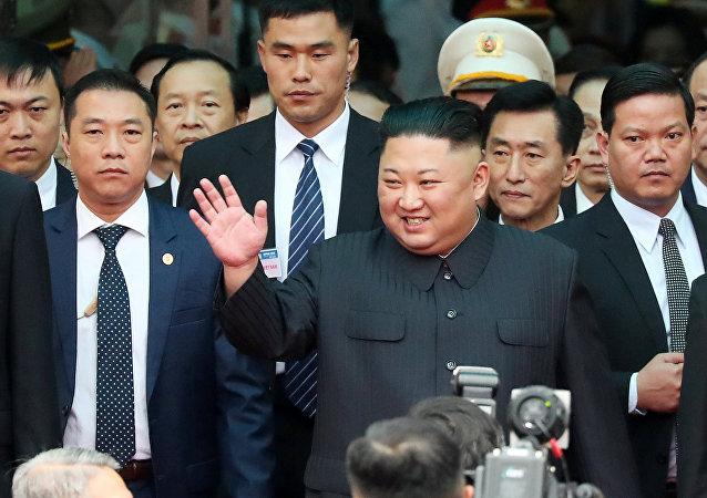 El líder norcoreano Kim Jong-un en Hahói