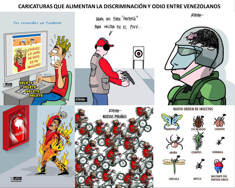 Caricaturas que fomentan el odio entre venezolanos