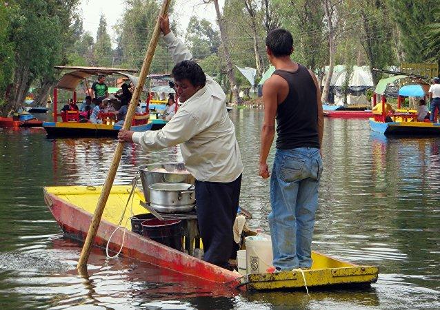 Lanchas en Xochimilco, Ciudad de México