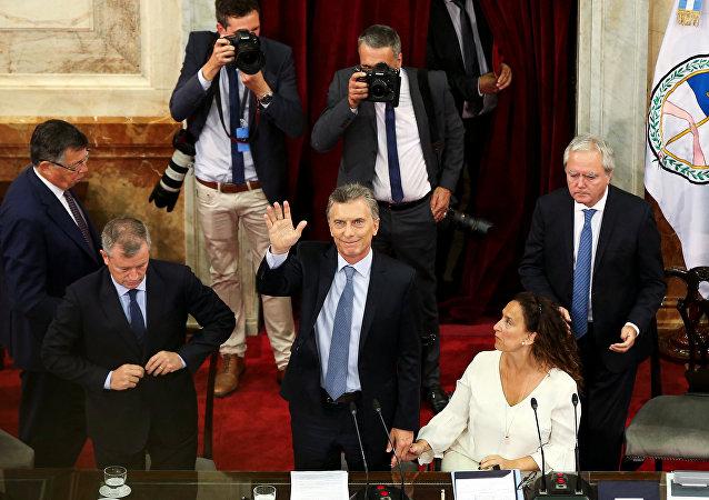 Mauricio Macri, presidente de Argentina, durante la apertura del 137 período de sesiones ordinarias del Congreso