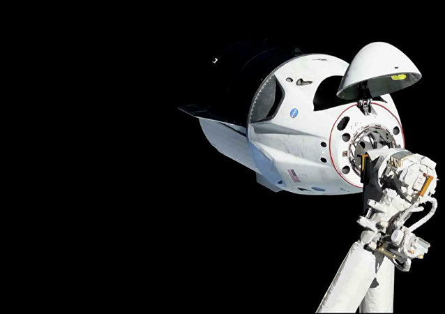 Cápsula de la nave Crew Dragon (Archivo)