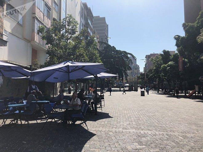 Calles de Caracas durante el feriado de Carnaval