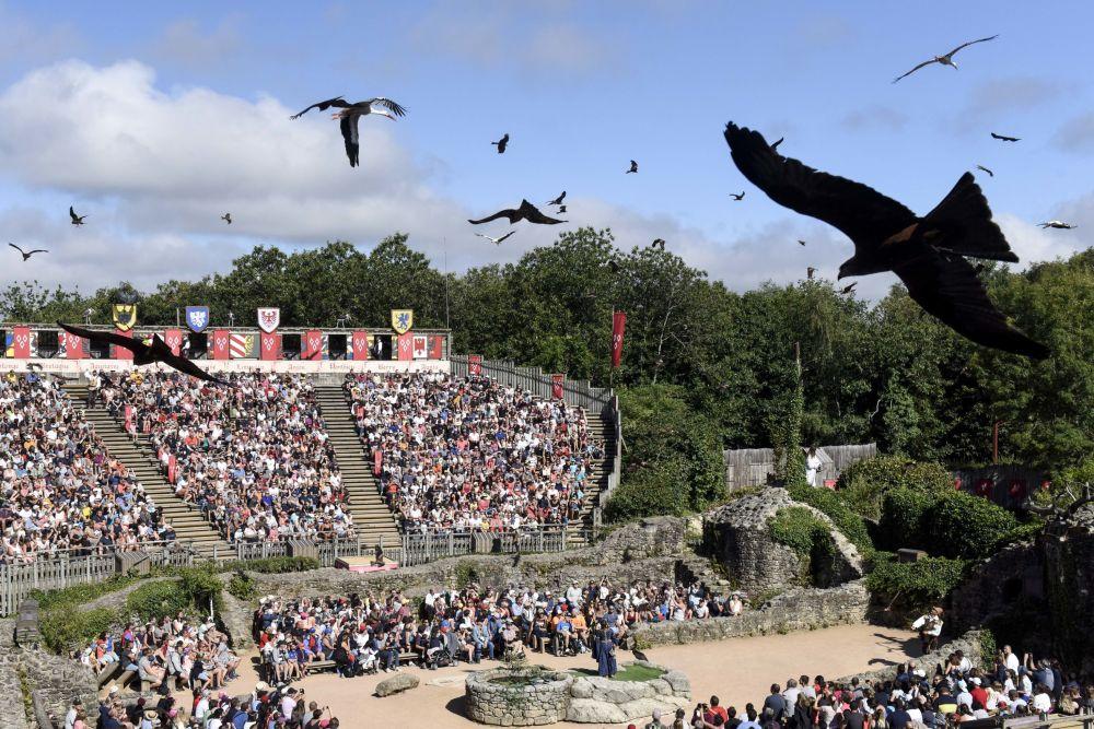 Los espectadores en el parque temático Le Puy du Fou, en el oeste de Francia