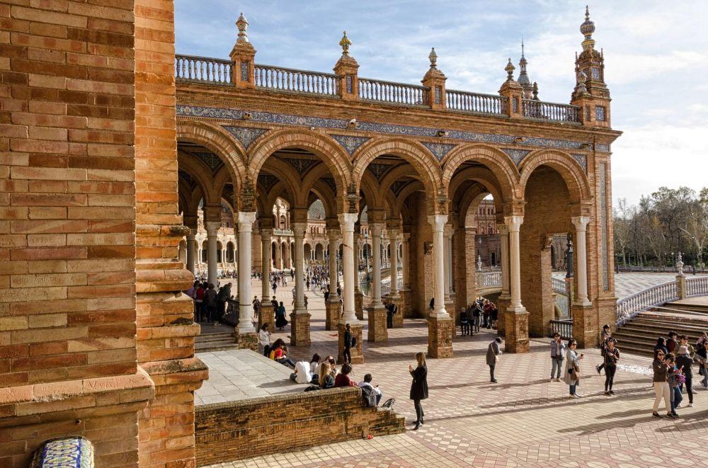La Plaza de España en Sevilla, España