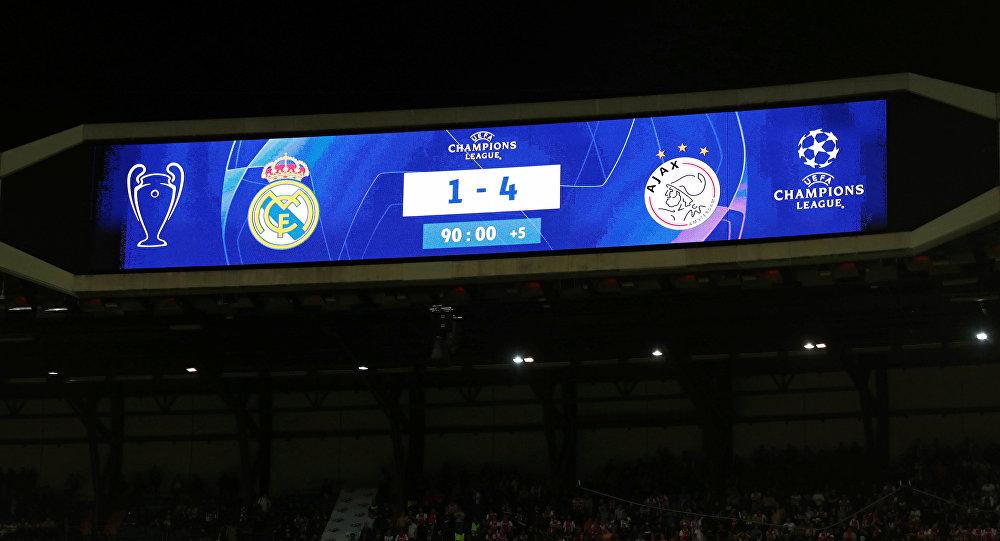 Los resultados del partido entre Real Madrid y Ajax Amsterdam
