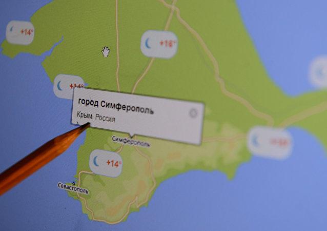 El mapa electrónico de Crimea