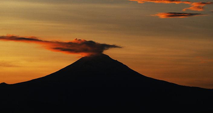 El volcán mexicano Popocatépetl