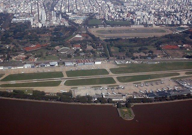 Vista aérea del Aeroparque Jorge Newbery