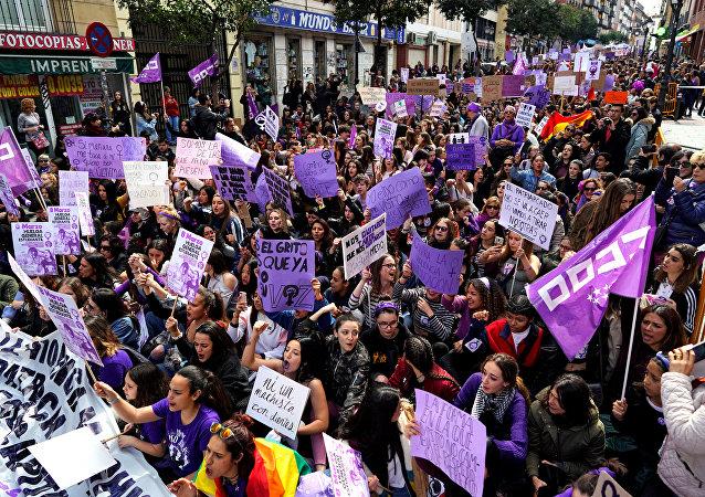 La marcha de las mujeres en Madrid