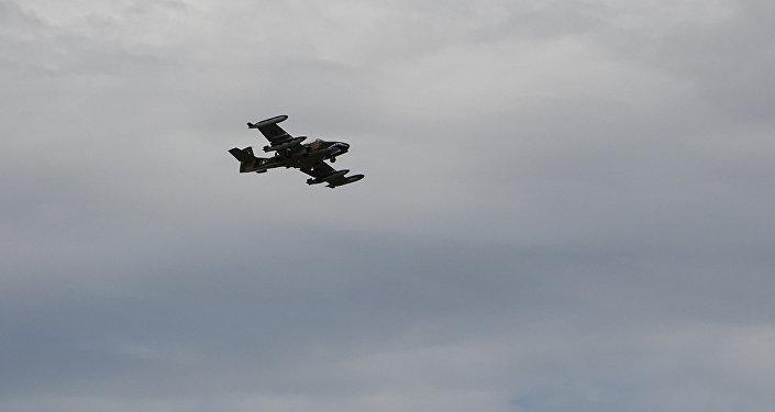 Un avión militar A-37B (Archivo)